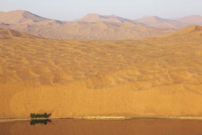 Desert landscape, Badain Jaran Desert, Inner Mongolia, China by Ellen Anon