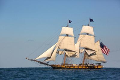 USA, Pennsylvania, Erie. View of sailing ship at sea. by Ellen Anon