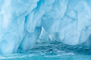 Arctic, Svalbard, Nordaustlandet Island. Colorful bits of ice have calved from the glacier. by Ellen Goff