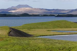 Iceland, Lake Myvatn. Evidence of lava flows around Lake Myvatn. by Ellen Goff