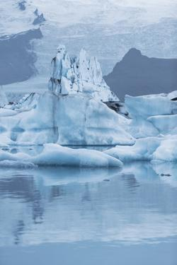 Iceland, Skaftafell National Park, Lake Jokulsarlon. View of the iceberg filled lake. by Ellen Goff