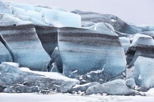 Iceland, Skaftafell National Park, Skaftafelljokull Glacier. Huge chunks of glacial ice. by Ellen Goff