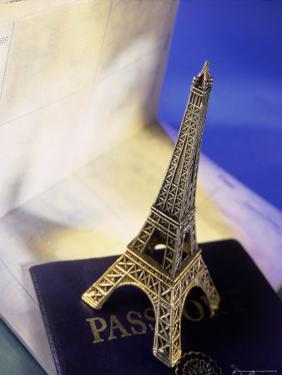 Travel Souvenir and American Passport by Ellen Kamp