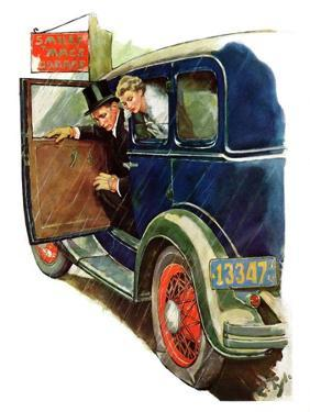 """Flat Tire, Flat Evening,""November 24, 1934 by Ellen Pyle"