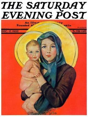"""""""Madonna and Child,"""" Saturday Evening Post Cover, December 17, 1932 by Ellen Pyle"""