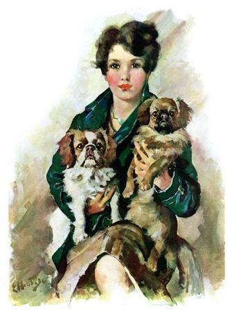 """Pugs in Lap,""November 9, 1929"