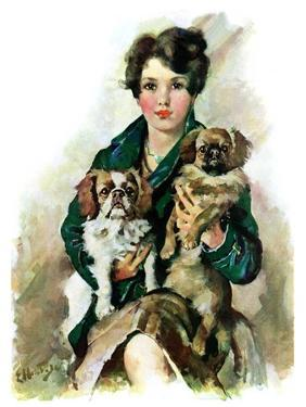"""Pugs in Lap,""November 9, 1929 by Ellen Pyle"