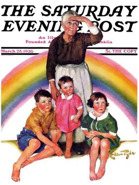 """""""Rainbow,"""" Saturday Evening Post Cover, March 28, 1936 by Ellen Pyle"""