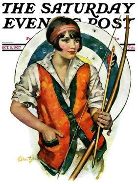 """Target Practice,"" Saturday Evening Post Cover, October 8, 1927 by Ellen Pyle"