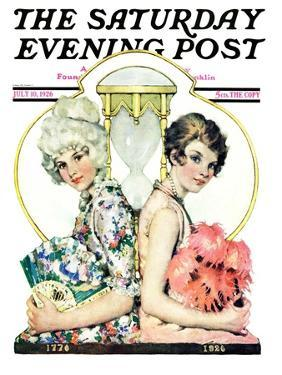 """""""You've Come a Long Way Baby,"""" Saturday Evening Post Cover, July 10, 1926 by Ellen Pyle"""