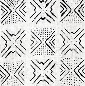 Mudcloth White IV by Ellie Roberts