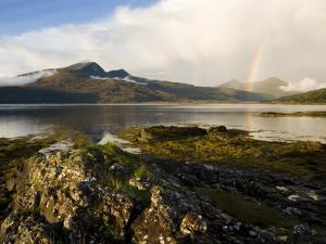 View from Pennyghael Across Loch Scridain to the Ben More Range after Heavy Rains, Scotland by Elliot Neep