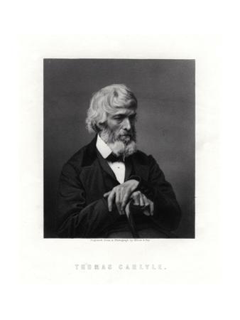 Thomas Carlyle, Scottish Essayist, Satirist, and Historian, Mid-Late 19th Century