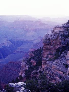 Sunset paints the Grand Canyon purple and mauve by Elliott Kaufman