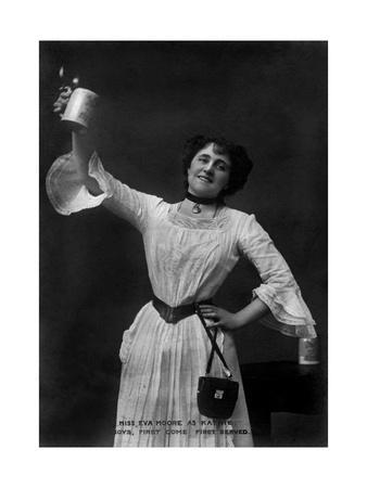 Eva Moore as 'Kathie' in Boys, First Come, First Served, 1903