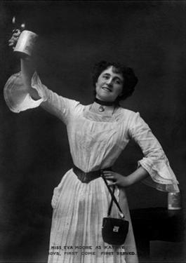 Eva Moore as 'Kathie' in Boys, First Come, First Served, 1903 by Ellis & Walery