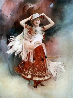 Evie Greene in Kitty Grey, C1902 by Ellis & Walery