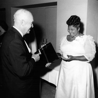 Mahalia Jackson, Dwight D. Eisenhower 1959 by Ellsworth Davis