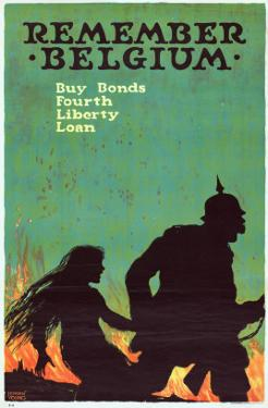 """""""Remember Belgium: Buy Bonds, Fourth Liberty Loan"""", 1918 by Ellsworth Young"""