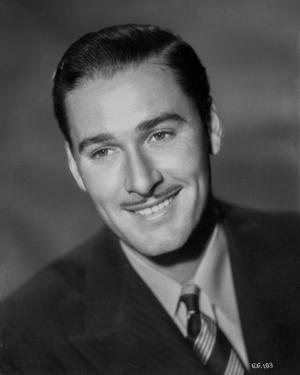 Errol Flynn smiling Portrait in Tuxedo by Elmer Fryer