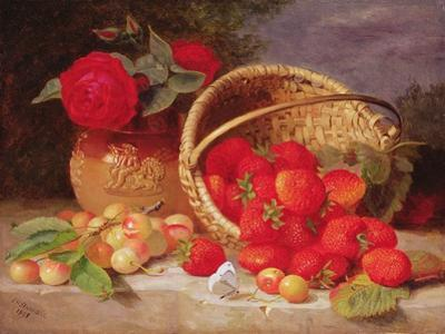 Still Life of Basket with Strawberries and Cherries, 1898