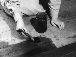 Staining Floorboards by Elsie Collins
