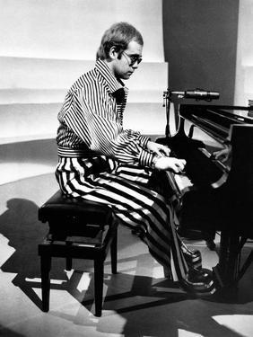 Elton John Playing Piano