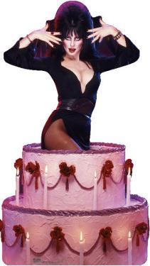 Elvira - Cake Lifesize Cardboard Cutout