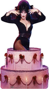 Elvira - Cake Lifesize Standup