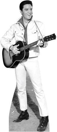 Elvis B&W White Jacket Music Lifesize Standup