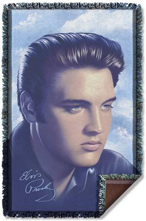 Elvis - Big Portrait Woven Throw