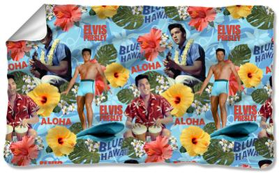 Elvis - Blue Hawaii Fleece Blanket