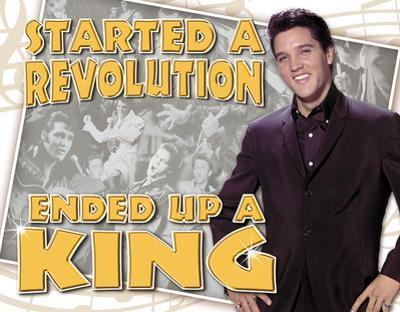 Elvis - Ended Up a King Tin Sign