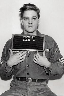 Elvis Presley- 1958 Enlistment Photo