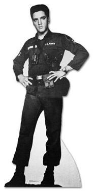Elvis Presley - Army Fatigues Lifesize Standup