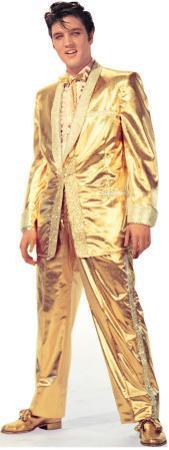 Elvis Presley - Gold Lame Suit Lifesize Standup