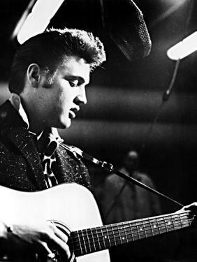 Elvis Presley, Recording in the Studio, June, 1956