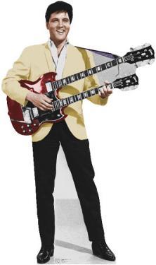Elvis Yellow Jacket Lifesize Cardboard Cutout
