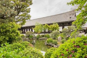 Architecture of Sanjusangendo Which is Famous for its 1001 Statues of Kannon, the Goddess of Mercy by elwynn