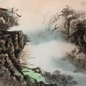 Chinese Traditional Ink Painting, Landscape of Season, Fall. by elwynn