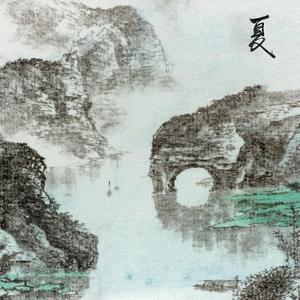 Chinese Traditional Ink Painting, Landscape of Season, Summer. by elwynn