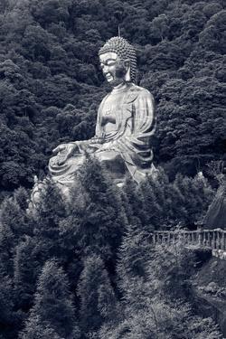 Giant Copper Buddha Statue, Shot at Jeng De Temple, Puli Town, Taiwan, Asia. by elwynn