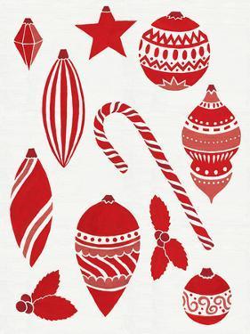 Christmas Otomi Tile III by Elyse DeNeige