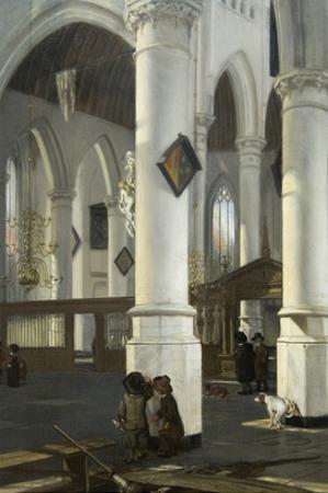 Interior of the Old Church in Delft, 1650–52