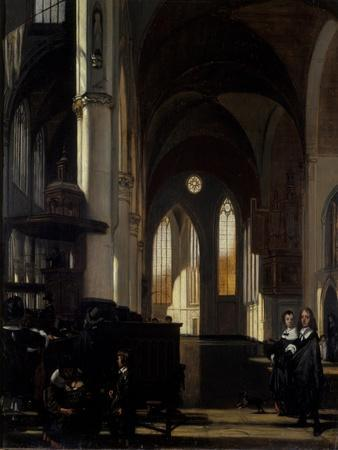 The Interior of a Gothic Church, C.1650