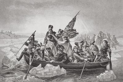 Washington Crossing the Delaware Near Trenton, New Jersey, Christmas 1776, from 'Illustrations of…