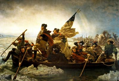 Washington Crossing the Delaware River by Emanuel Leutze