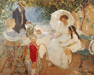 The Arbour by Emanuel Phillips Fox
