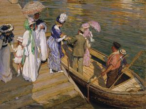The Ferry by Emanuel Phillips Fox