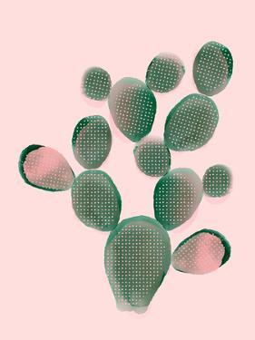 Watercolored Cactus by Emanuela Carratoni